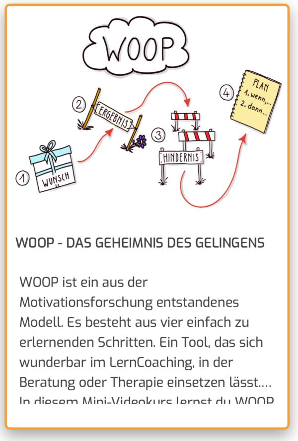 WOOP - Onlinekurs ein Coaching-Tool und Hilfe bei Motivationblockaden und Prokrastination und Aufschieberitis